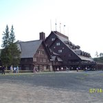 Old Faithful Inn as seen from the geyser