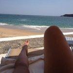 The view from playa azul profundo beachfront dip pool.
