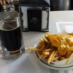 Bourbon stout and chili fries