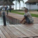 Entardecer à beira da Lagoa Nichupé