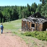 One of several old cabins used by ranchers