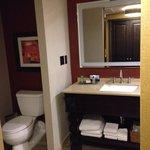 Beautiful basic room and bathroom.