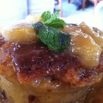 Urth Caffe Urth Bread Pudding Breakfast with Bananas