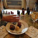 Complimentary Champagne and desserts after proposal