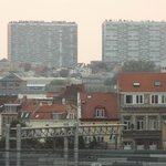 View from a street-facing room which overlooks the Brussels-Midi station