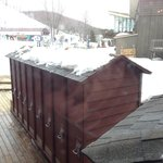 Ski lockers just outside the Hamlet