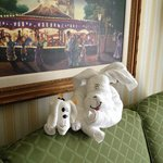 Towel animals left by Mousekeeping