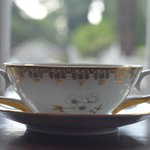 Café da manhã servido em porcelana Inglesa