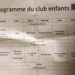 Programme du club enfants