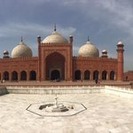 A panoramic view of the mosque