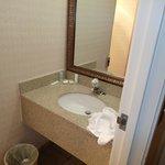 View of bathroom sink