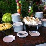 Detail of breakfast buffet