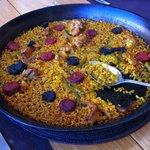 Arroz delicias ibericas (morcilla, chorizo y pollo de corral)