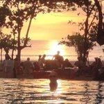 beach front sunset