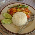 Nice meals in restaurant