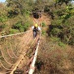 Burma Bridge crossing at X thrill adventure