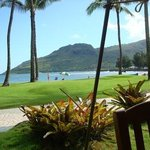 View from my table at lunch - Duke's Canoe Club, Lihue, Kauai, Hawaii