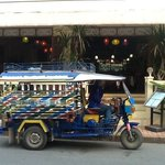Tuk Tuk outside the hotel