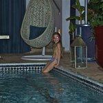 dip in the Riad pool