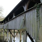Covered bridge in grounds