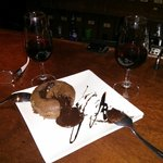 Chocolate culant and a glass of Pedro Ximenez....absolute heaven