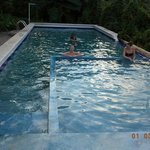 Fun in the completely naturally swimming pool, with spring water