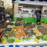 Market seafood stall