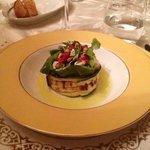 Salade de courgettes, tomates séches, fromage de chèvre