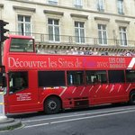 Bus on the streets of Paris.