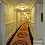 Hallway to our Suite, love all the wood work