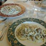 i nostri piatti! pennette con panna e tartufo e strangozzi ai funghi porcini