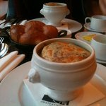 excellent french onion soup and house bread