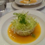 crab salad at oval