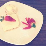 Vanilla & Strawberry Cheesecake Lovely!