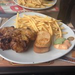 Galetto (roasted chicken) with fries