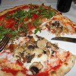 le nostre pizze: boscaiola con tarufo e campagnola