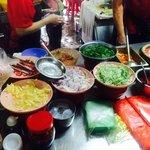 Laksa market stall