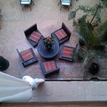 il patio visto dalla camera