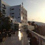 Vista dell'hotel dalla terrazza