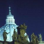 Basilica St Peter's at night