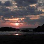 Cloudy sunset on the beach