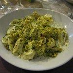 ravioli con crema di pistacchi