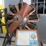 A rotary engine on display