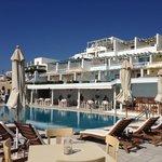 vista albergo dalla piscina