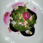 Beet Salad with Blue cheese & Pine nuts