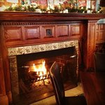 Enjoy the fireplace in The Tavern