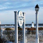 Harbor View Hotel Sign and the Edgartown Lighthouse