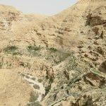 deep gorge, said it was 1.5 hour hike from Jericho