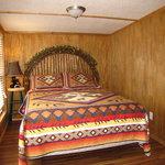 Deer Run queen bed with hand made headboard