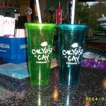 If you buy the Calypso Cay cups refills for soda is free! You can add what you want to it! :)